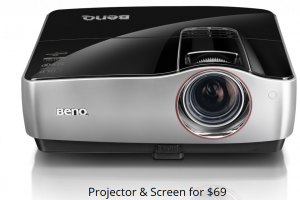 Vancouver Projector Rentals - Projector & Screen For Only $69